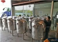 定制不锈钢储罐准备发货