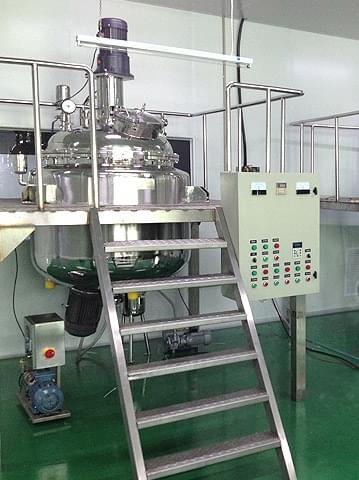 化妆品厂用乳化罐工作台
