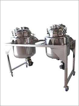 三层磁力搅拌配料罐(带推车)