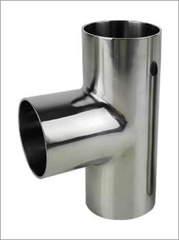 卫生级不锈钢焊接三通内外抛光镜面
