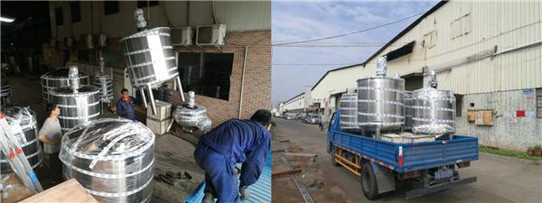 东莞客户定制的一批不锈钢罐顺利出货