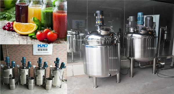不锈钢搅拌罐在调味果汁生产上的运用
