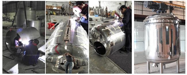 不锈钢搅拌罐的制作过程