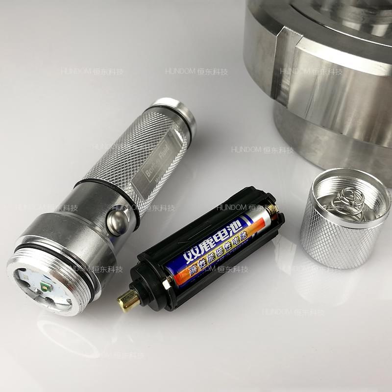 不锈钢led手电筒视镜 罐上配件