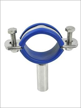 304不锈钢带蓝橡皮管支架
